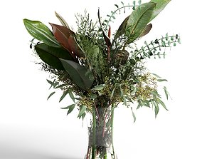 3D model bush Corporate Flowers 2