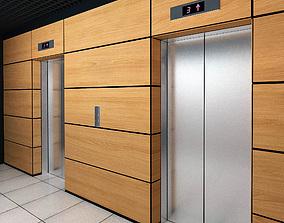 3D model Elevator Set 02