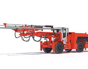 Sandvik DD421 Mining Jumbo 3D model
