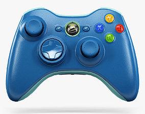 3D model Microsoft Xbox 360 Wireless Controller Blue