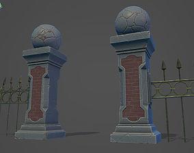 3D asset Graveyard Fences set