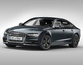 3D model Audi A7 Sportback 2015