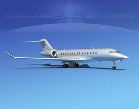 Bombardier Global 5000 Bare Metal 3D