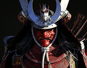 3D model Samurai Warlord and Japanese Architecture Bundle