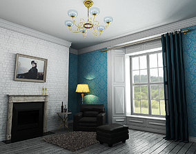 3D model animated interior