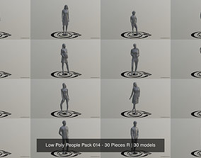 3D model Low Poly People Pack 014 - 30 Pieces R