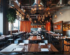 3D scene European restaurant design