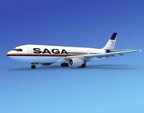 Airbus A300 SAGA 3D model