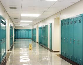 School Corridor 3D