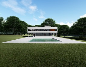 The Villa Savoye by Le Corbusier 3D model