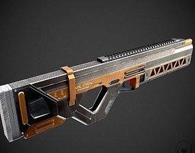 Sci-Fi Railgun Rifle 3D asset