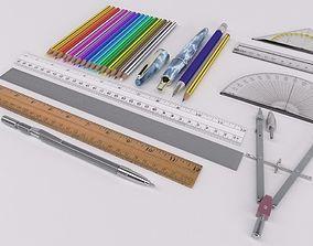Drawing Instruments 3D model