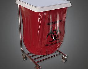 3D asset Medical Disposal Stand HPL - PBR Game Ready