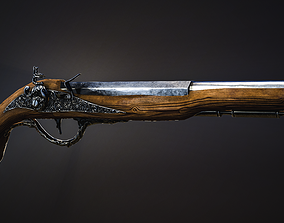 3D model Musket Game-ready low-poly