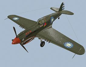 World War II P40B fighter 3D model