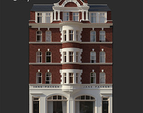 London building facade 3D