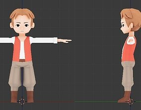 Rigged and Animated Lowpoly Swordman for gameDev 3D