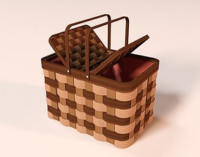 3D Cartoon Picnic Basket