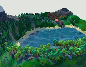 other low poly terrain 3D printable model
