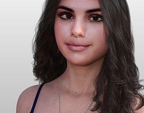 Selena Gomez 3D rigged