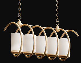 3D Maximus Rectangular Chandelier de Currey Company