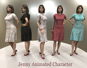 Jenny Animated Character 3D asset