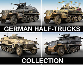 army 3D German Half Trucks - Collection