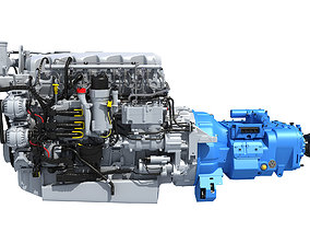 3D model Powertrain Diesel Engine