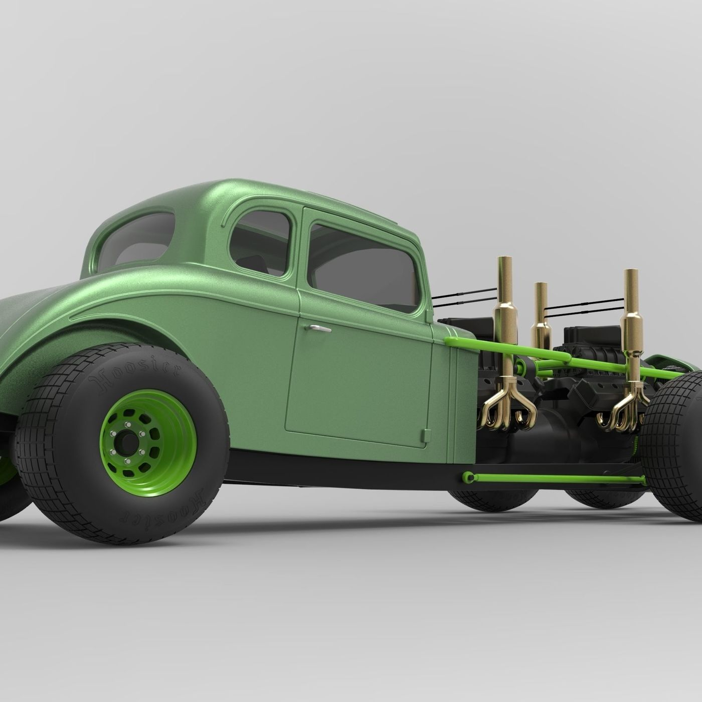 Hot rod six-wheeled