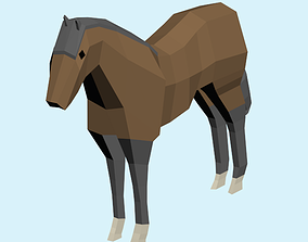 3D model animals low poly