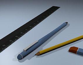 3D model Stationery set Pen