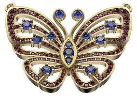3D print model gems Pendant Butterfly In Gems