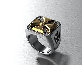 cross biker ring 3D print model