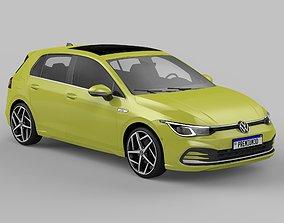3D model Volkswagen Golf eTSI mk8 2021