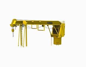 3D model low-poly Crane