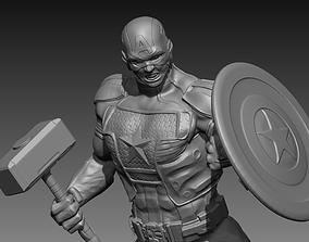 Captain America 3D printable model shield