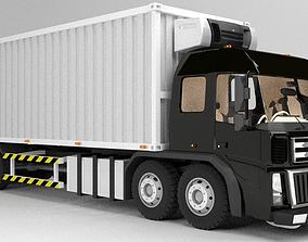 3D asset Straight Box Truck