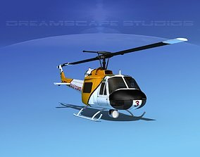 Bell 204 Gulf Coast Oil 3D animated