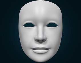 Theater Mask with Neutral Expressions V2 3D model
