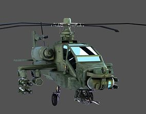Apache Game Helicopter 3D asset