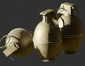 M26 High-Explosive Frag Grenade 3D asset