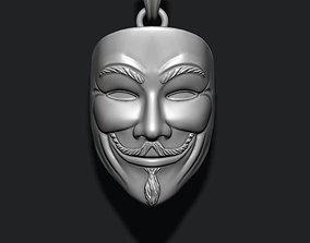 3D printable model Vendetta anonymous pendant