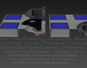 3D Drone Interlocking Station Charger Concept