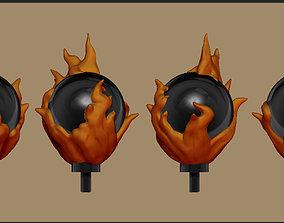 3D print model Pyromancer Staff Topper