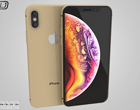 Apple Iphone XS Gold 3D model electronics