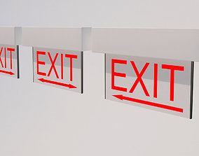 Exit Sign-001 Directional 3D
