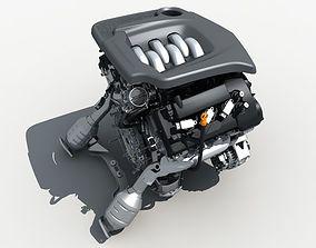mechanic 3D model Car Engine V6
