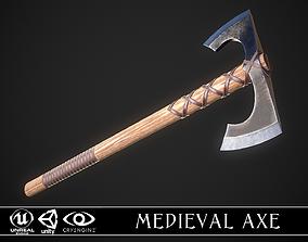 Medieval Axe 02 3D asset