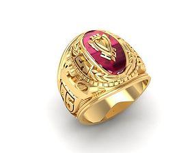 1075 Souvenir Men Ring 3D print model