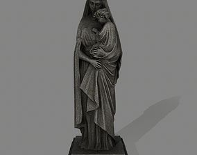 3D model game-ready Woman Statue